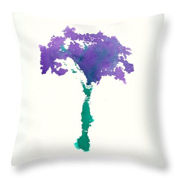 Throw Pillow featuring the painting Bouquet Abstract 1 by Frank Bright