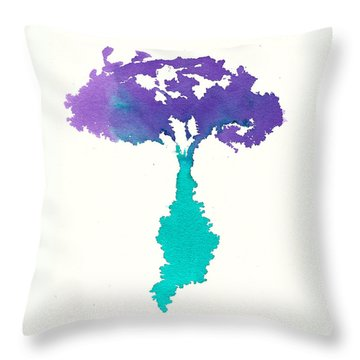 Throw Pillow featuring the painting Bouquet Abstract 2 by Frank Bright