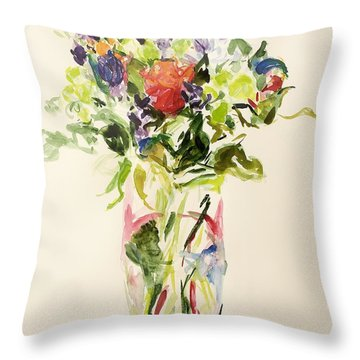 Bouquet  Throw Pillow by Julie Held