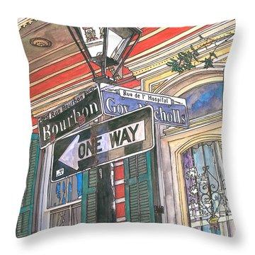 Bourbon And Nicholls Throw Pillow by John Boles