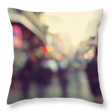 Throw Pillow featuring the photograph Bourbon Bokah by Heather Green