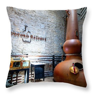 Bourbon Distillery Throw Pillow by Alexey Stiop