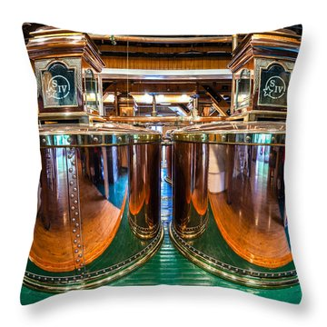 Bourbon Stills Throw Pillow by Alexey Stiop