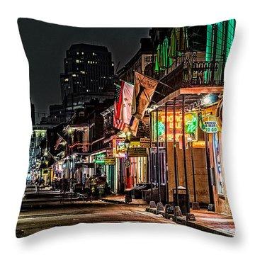 Bourbon Street Glow Throw Pillow