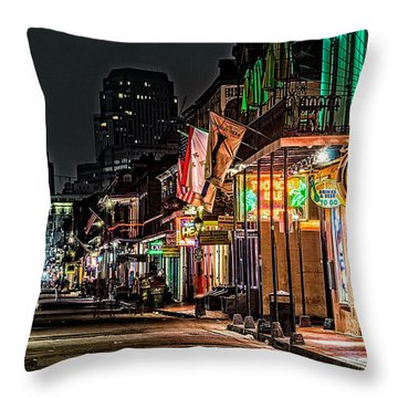 Bourbon Street Glow Throw Pillow