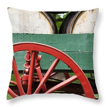 Bourbon Wagon Throw Pillow by Alexey Stiop