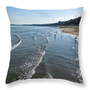 Bournemouth Beach Throw Pillow by Svetlana Sewell