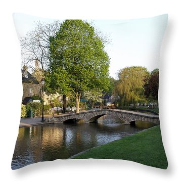 Bourton On The Water 2 Throw Pillow by Ron Harpham
