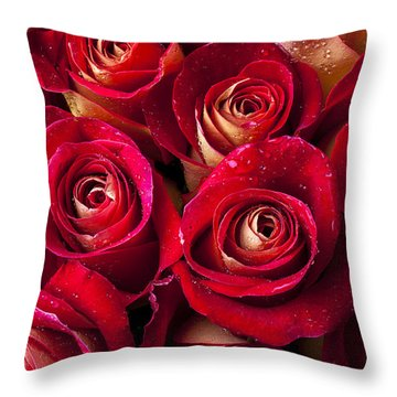 Boutique Roses Throw Pillow
