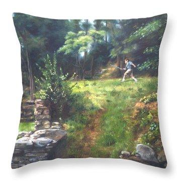 Bouts Of Fantasy Throw Pillow by Lori Brackett