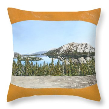 Bove Island Alaska Throw Pillow by Wendy Shoults