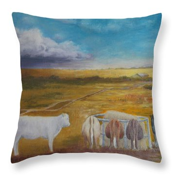 Bovine Theory Throw Pillow
