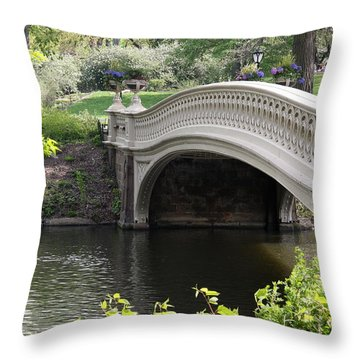 Bow Bridge Iv Throw Pillow