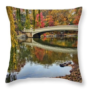 Bow Bridge Throw Pillow by June Marie Sobrito