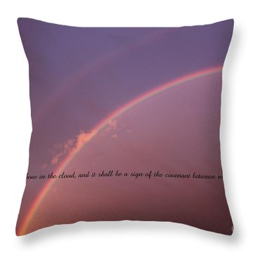 Bow In The Clouds Throw Pillow by Erica Hanel