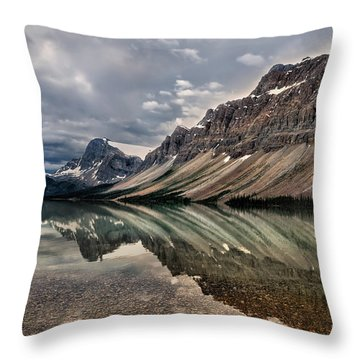 Bow Lake Throw Pillow