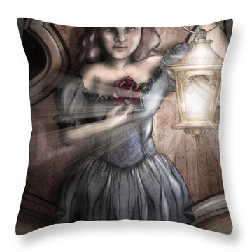 Bow Maiden Throw Pillow