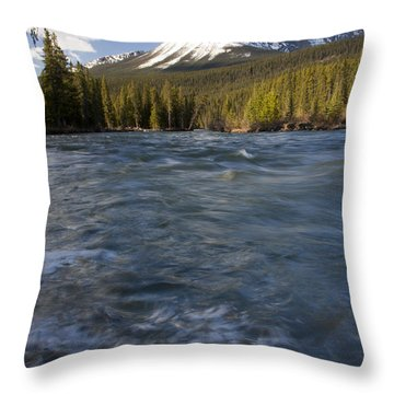 Bow River At Lake Louise Throw Pillow