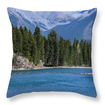 Bow River  Throw Pillow by Cheryl Miller