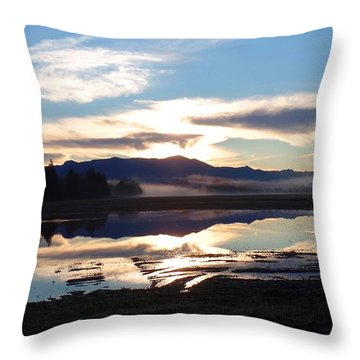 Bow Sunrise Reflection Throw Pillow