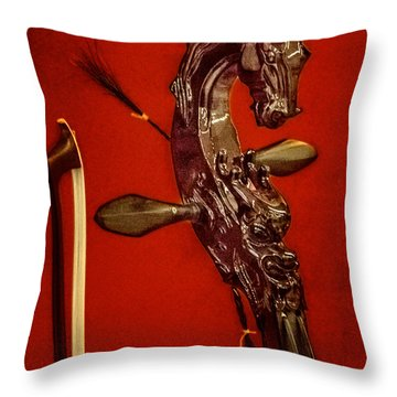Bowed Lute Throw Pillow