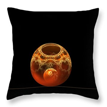 Bowl And Orb Throw Pillow