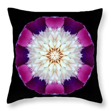 Bowl Of Beauty Peony II Flower Mandala Throw Pillow
