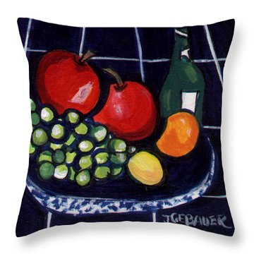 Bowl Of Fruit 1 Throw Pillow
