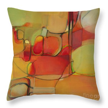 Throw Pillow featuring the painting Bowl Of Fruit by Michelle Abrams