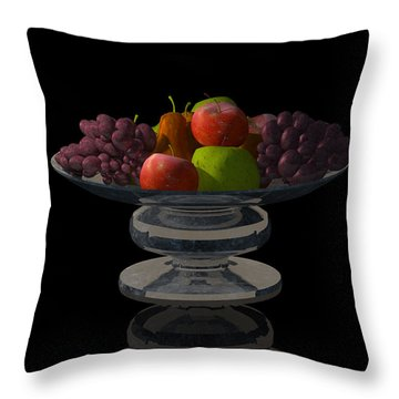 Bowl Of Fruit... Throw Pillow
