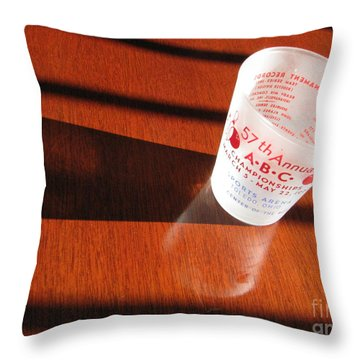 Throw Pillow featuring the photograph Bowling History by Michael Krek