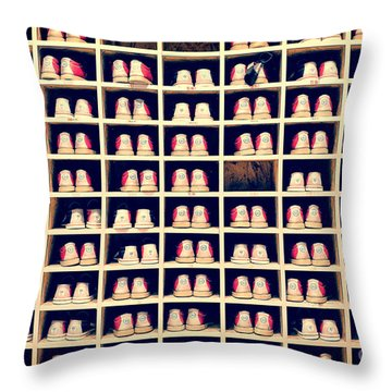 Bowling Shoes Throw Pillow by Delphimages Photo Creations