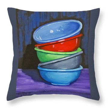 Bowls Throw Pillow