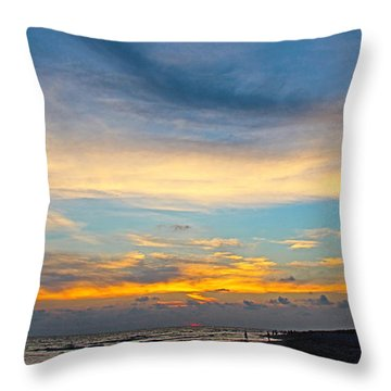 Bowman's Beach Sunset Throw Pillow