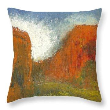 Box Canyon Throw Pillow