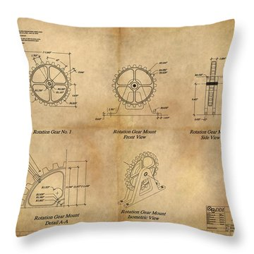 Box Gear And Housing Throw Pillow