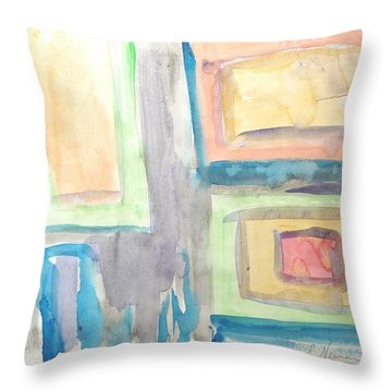 Box In Box Throw Pillow by Esther Newman-Cohen