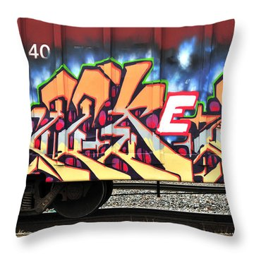 Boxcar Art Throw Pillow