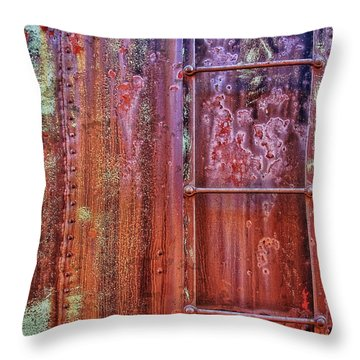 Boxcar Ladder Throw Pillow by Marcia Colelli