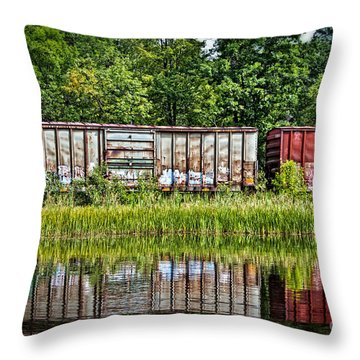 Boxcar Reflection Throw Pillow
