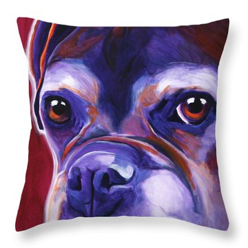 Boxer - Wallace Throw Pillow by Alicia VanNoy Call