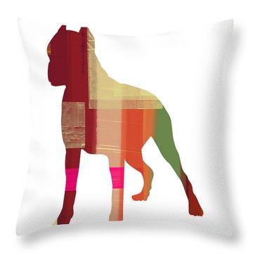Boxer 2 Throw Pillow by Naxart Studio
