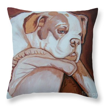 Boxer's Day Off Throw Pillow