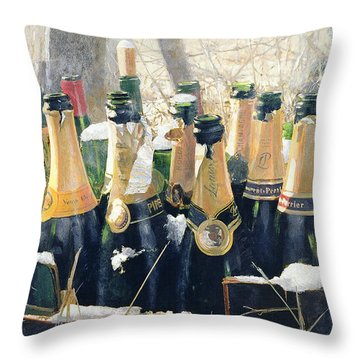 Champers Throw Pillows
