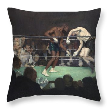 Boxing Match, 1910 Throw Pillow by George Luks