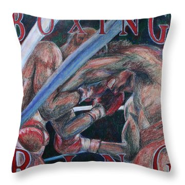 Boxing Ring Throw Pillow by Kate Fortin