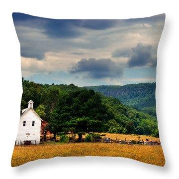 Boxley Valley Church Throw Pillow