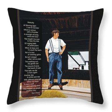 Boy In The Barn / Maturity Throw Pillow
