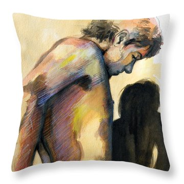 Boy Looking For Truth Throw Pillow