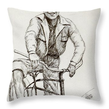 Boy Of The 1930s Throw Pillow